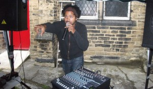Freestyling in the courtyard at the Academy launch event