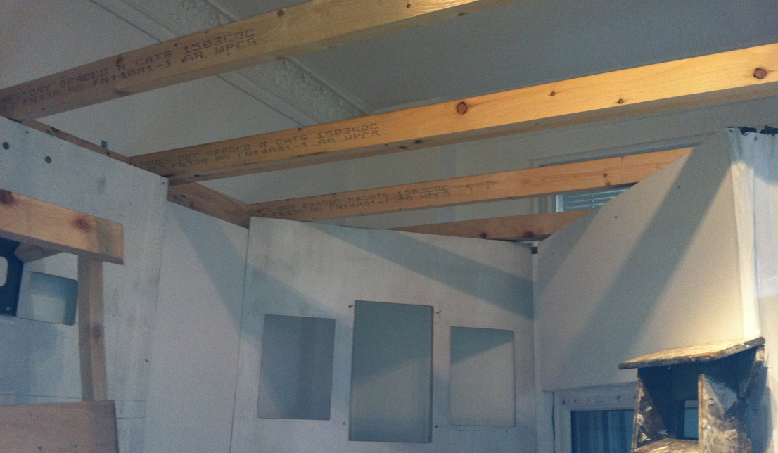 studio roof beams