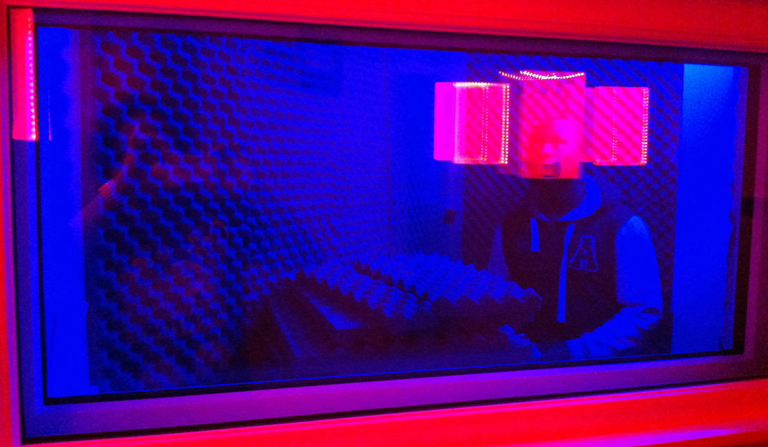 vocal booth window